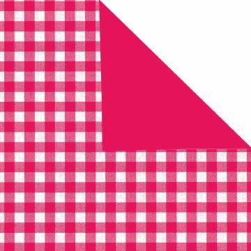 Geschenkpapier Rolle 50cm 50Meter Landhaus pink