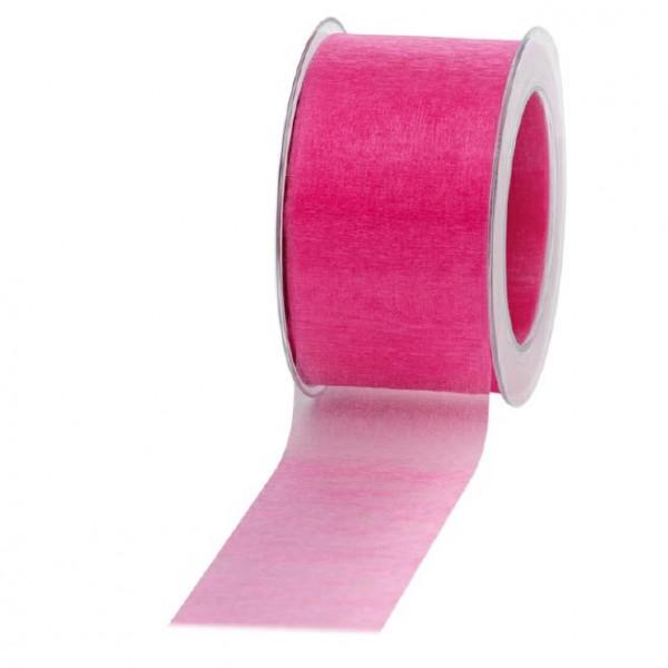 Geschenkband Chiffon 60mm/50Meter pink