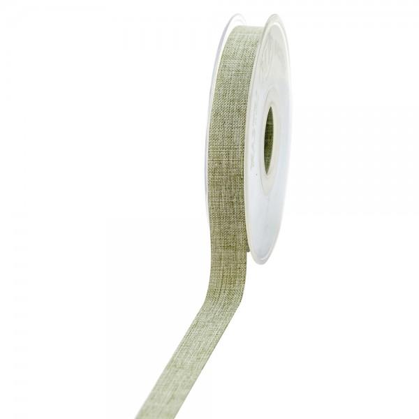 Geschenkband Leinenoptik 15mm 20Meter Pastellgrün