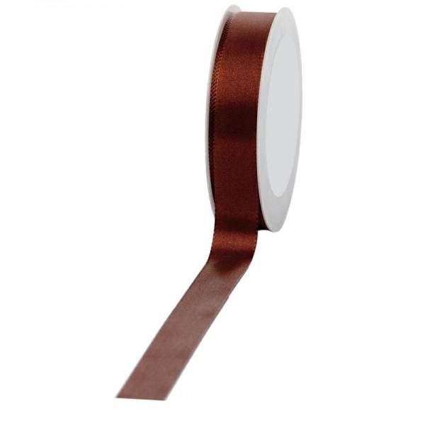 Geschenkband Stoff 25mm / 50Meter braun