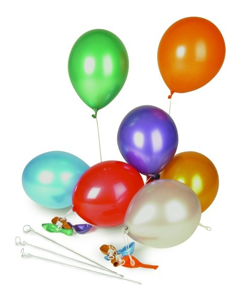 Luftballon metallic blau