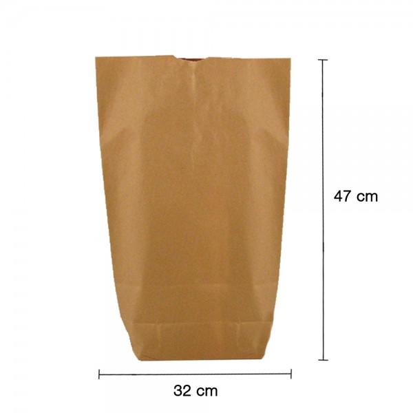Bodenbeutel braun 2-lagig 32x47cm