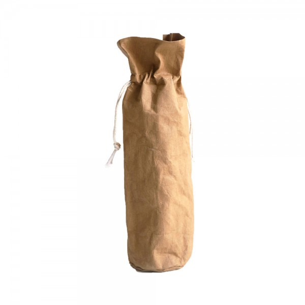 Papier Bag für Weinflaschen Ø 9.5 cm H 36.5cm natur