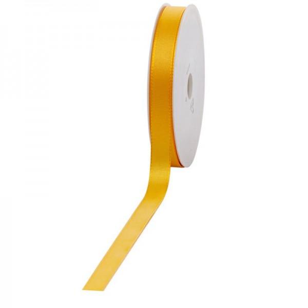 Geschenkband Stoff 15mm / 50Meter gelb