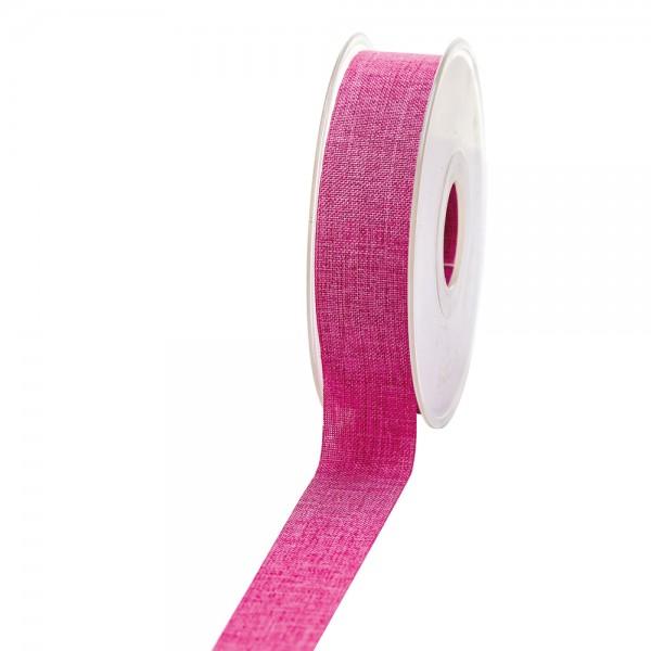 Geschenkband Leinenoptik 25mm 20Meter Pink