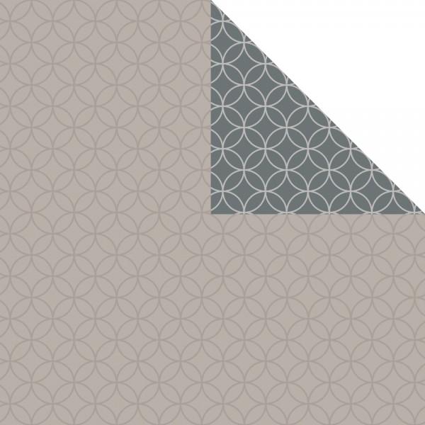 Geschenkpapier Bogen 70x100 cm grau/grau Circles