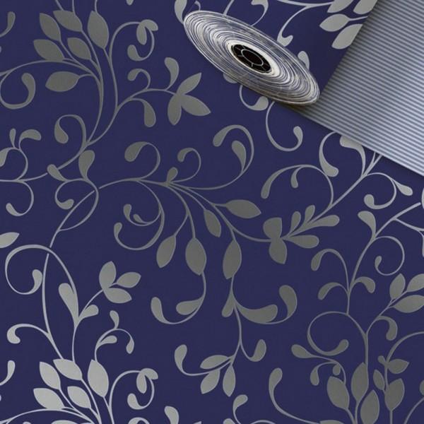 Geschenkpapier-Rolle 30cm 250Meter Miron dunkelblau