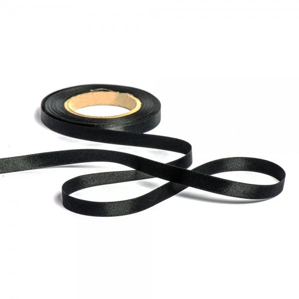 Geschenkband mit Druck 25mm breit 100 Meter schwarz