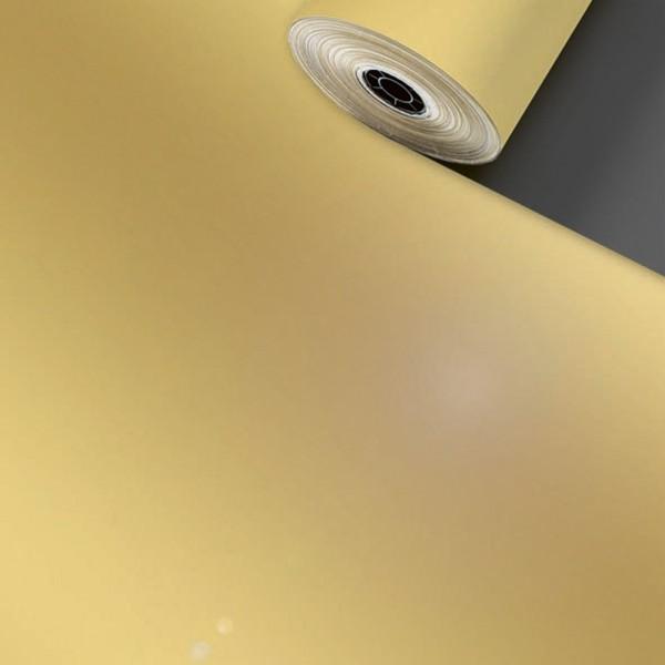 Geschenkpapier Rolle 50cm 100Meter Uni Lux Gold