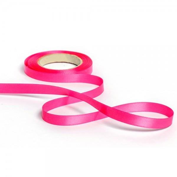 Geschenkband mit Druck 10mm breit 100 Meter pink