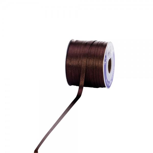 Satinband 6mm 100Meter dunkelbraun