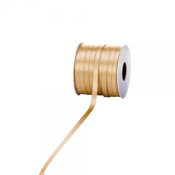 Satinband 6mm 100Meter gold