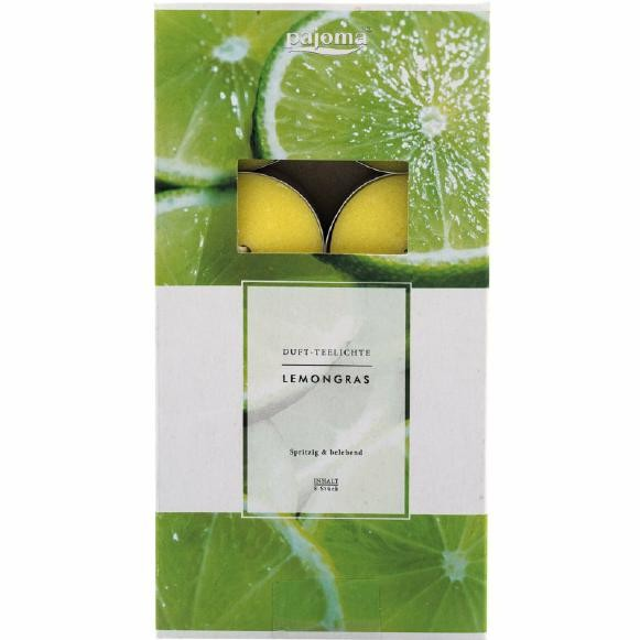 Duftteelicht Lemongras auf Tableau