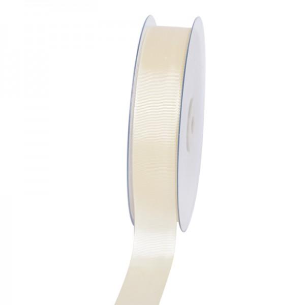 Geschenkband Grosgrain 25 mm/50Meter creme
