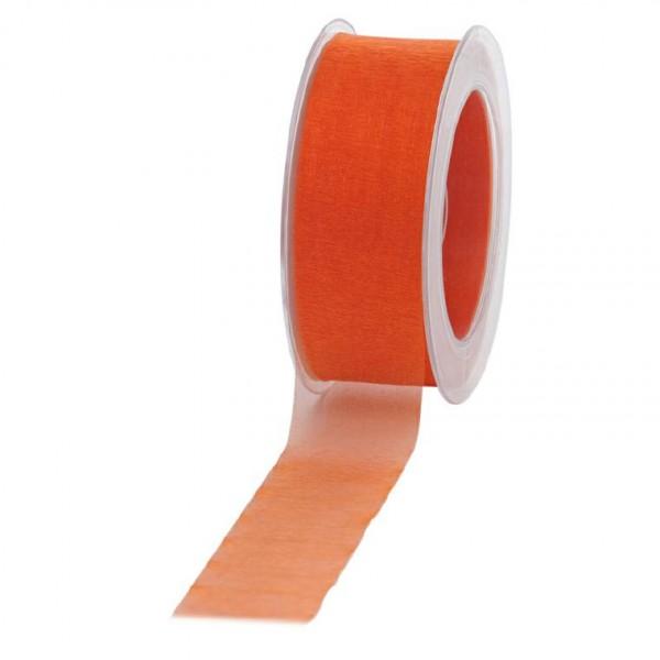 Geschenkband Chiffon 40mm/50Meter orange
