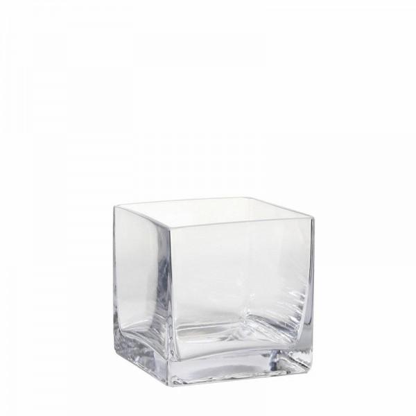 Glas Vase viereckig 10x10x10cm