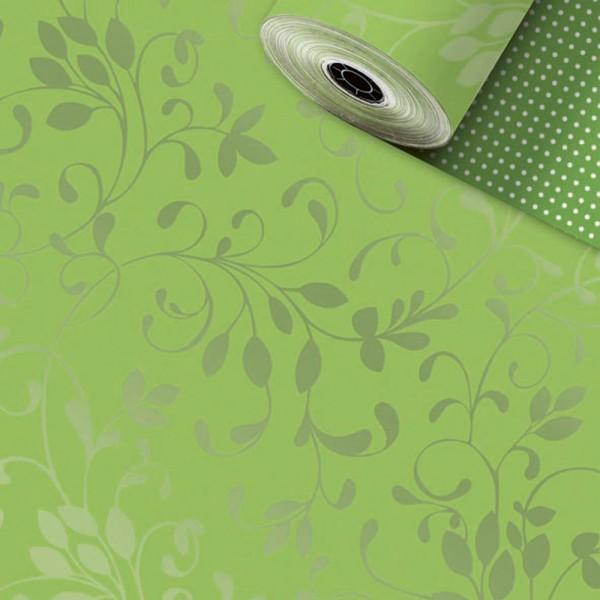 Geschenkpapier Rolle 50cm 250Meter Miron kiwi