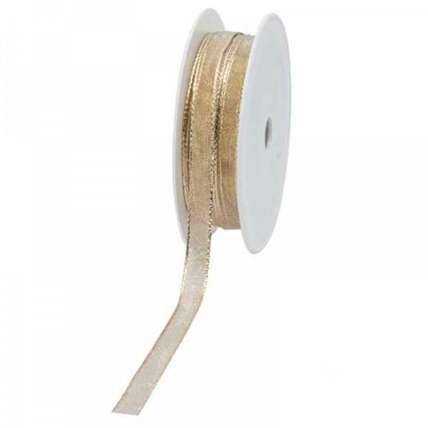 Geschenkband transparent 10mm 25Meter gold
