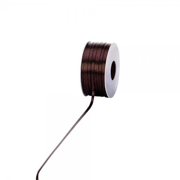 Satinband 3mm 100Meter dunkelbraun