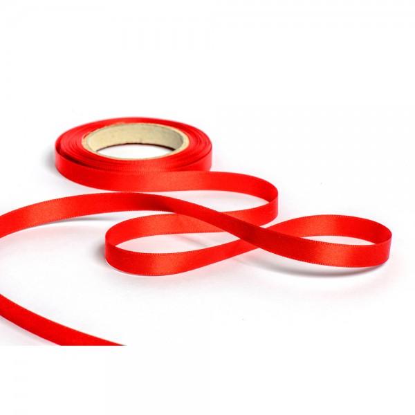 Geschenkband mit Druck 10mm breit 100 Meter rot