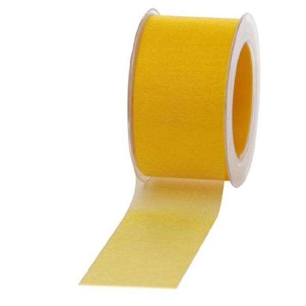 Geschenkband Chiffon 60mm/50Meter gelb