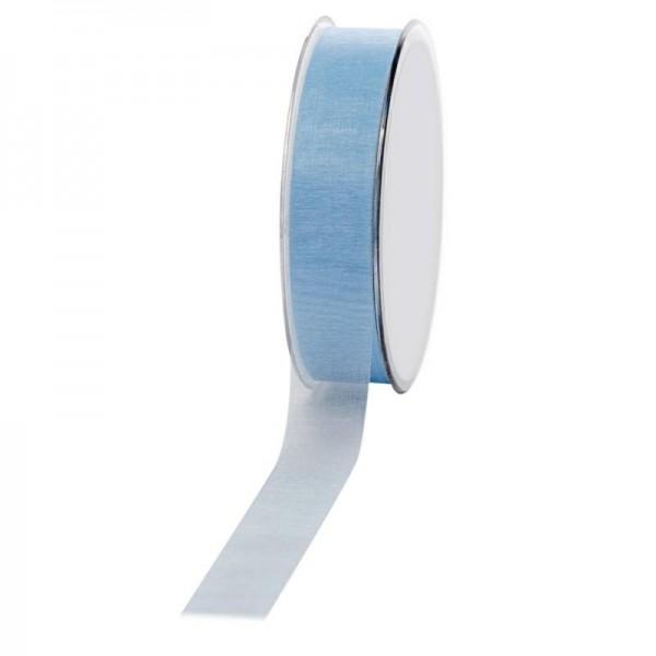 Geschenkband Chiffon 25mm/50Meter hellblau