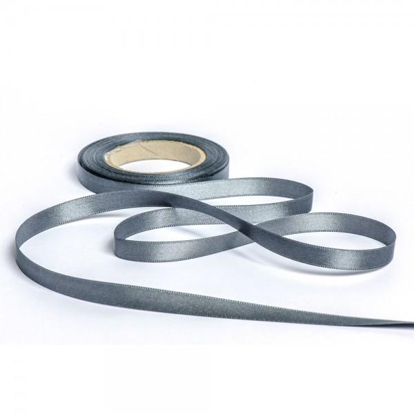 Geschenkband mit Druck 10mm breit 100 Meter dunkelgrau
