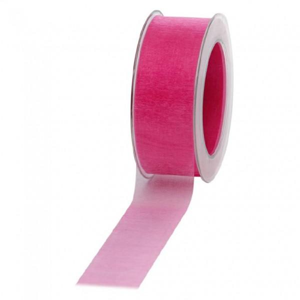 Geschenkband Chiffon 40mm/50Meter pink