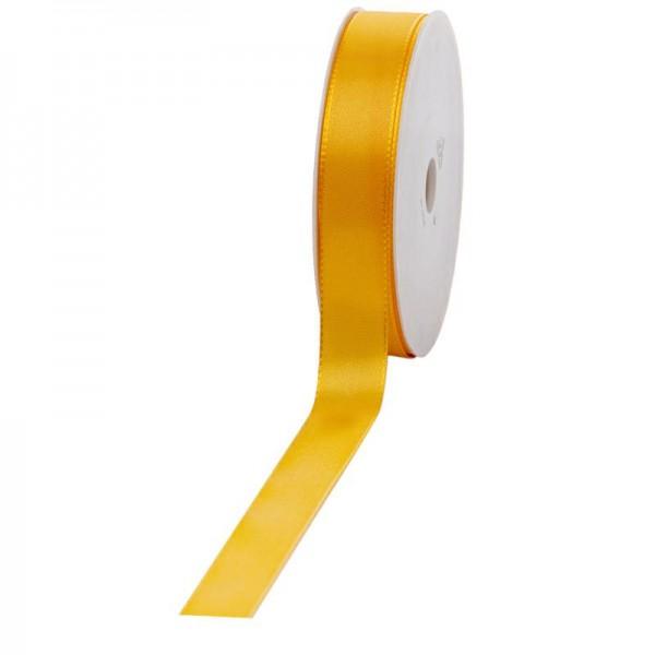 Geschenkband Stoff 25mm / 50Meter gelb
