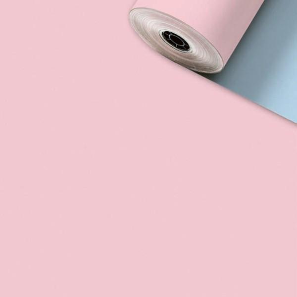 Geschenkpapier Rolle 50cm 200Meter Uni Matt Rosa/blau