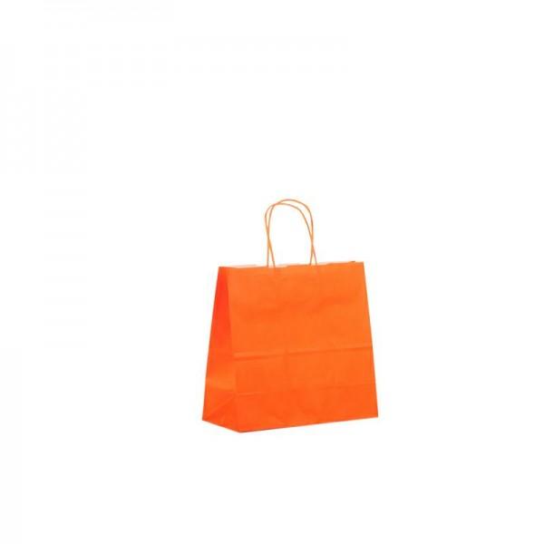 Papier Tragetaschen 25x11x24cm orange