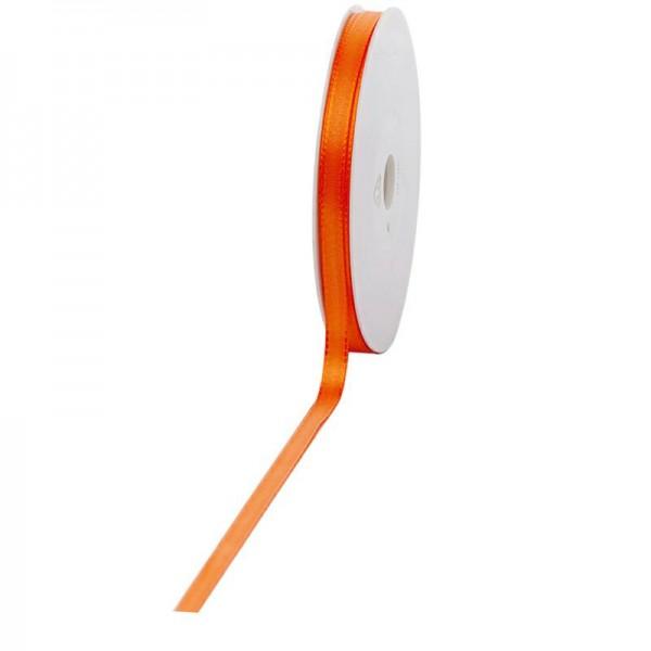 Geschenkband Stoff 8mm / 50Meter orange