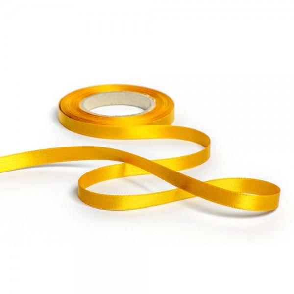 Geschenkband mit Druck 50mm breit 100 Meter goldgelb
