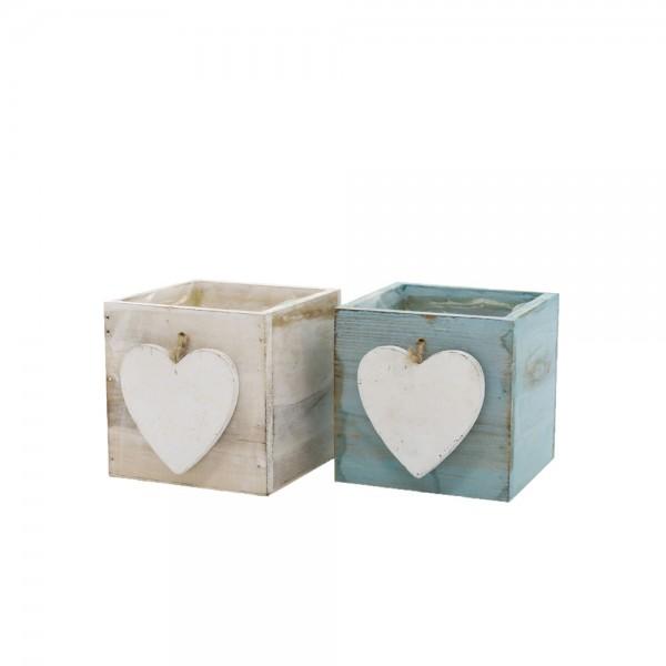 Holzschublade 2-fach sortiert 10x10x10 cm Toni