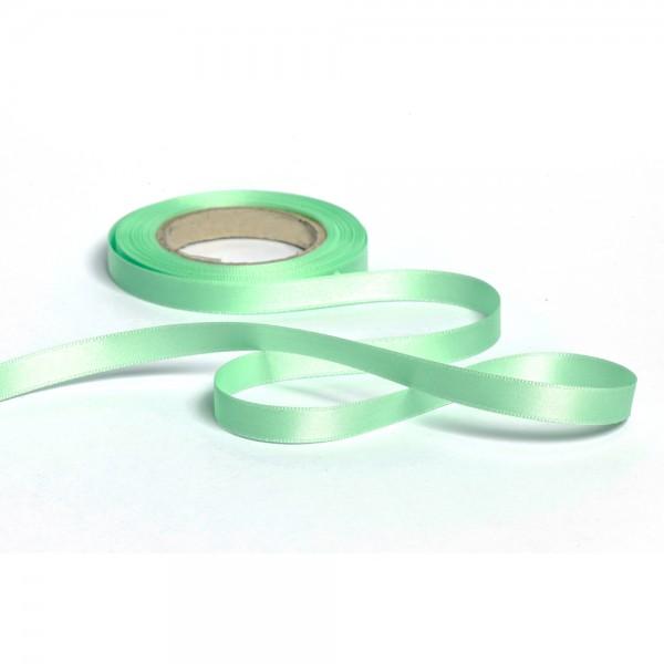 Geschenkband mit Druck 10mm breit 100 Meter mintgrün