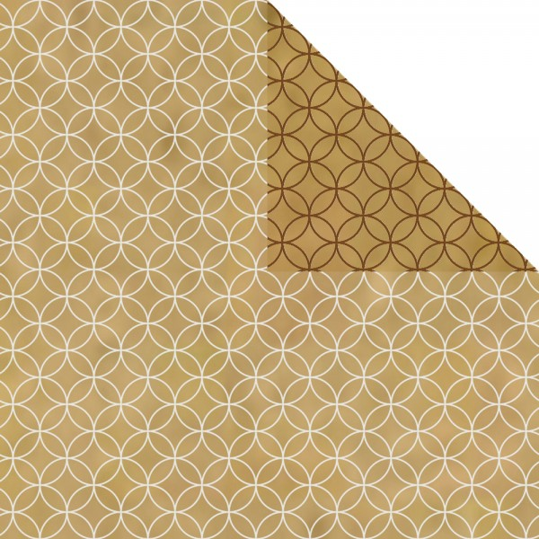 Geschenkpapier Rolle 50cm 250Meter Circles braun/weiß