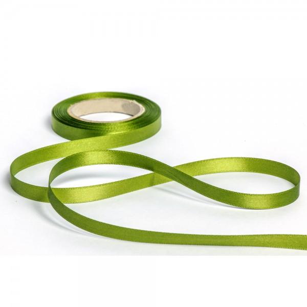 Geschenkband mit Druck 15mm breit 100 Meter moosgrün
