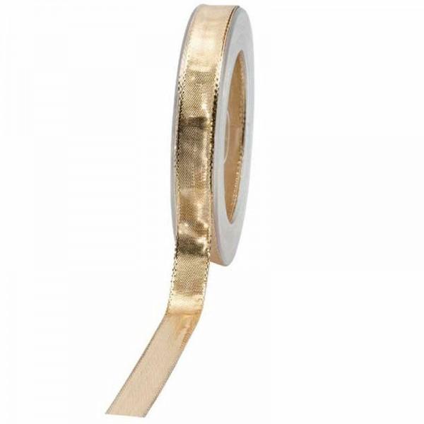 Geschenkband glänzend 15mm 25Meter gold