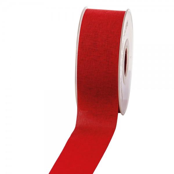 Geschenkband Leinenoptik 40mm 20Meter Rot