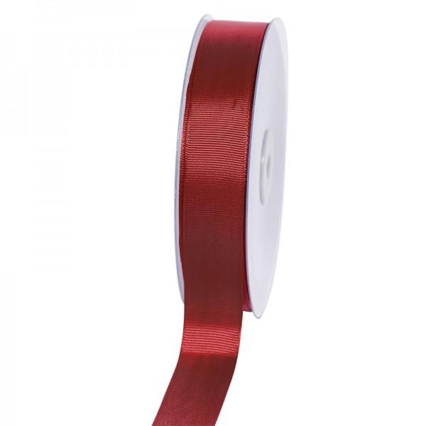 Geschenkband Grosgrain 25 mm/50Meter bordeaux