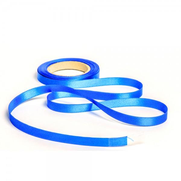 Geschenkband mit Druck 10mm breit 100 Meter royalblau