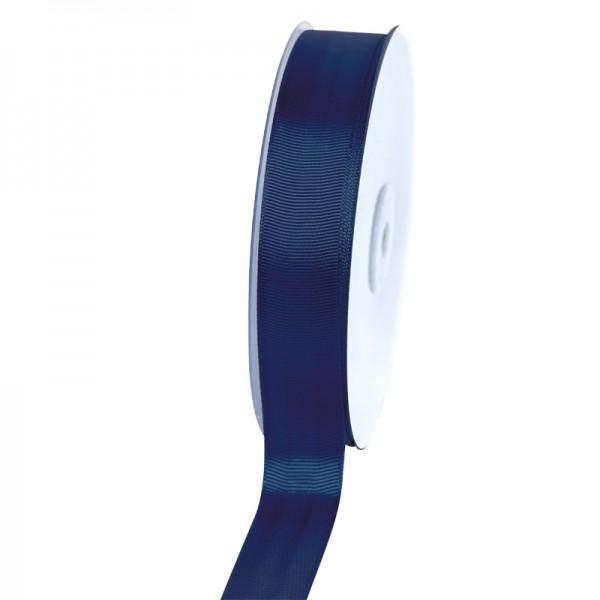 Geschenkband Grosgrain 25 mm/50Meter dunkelblau