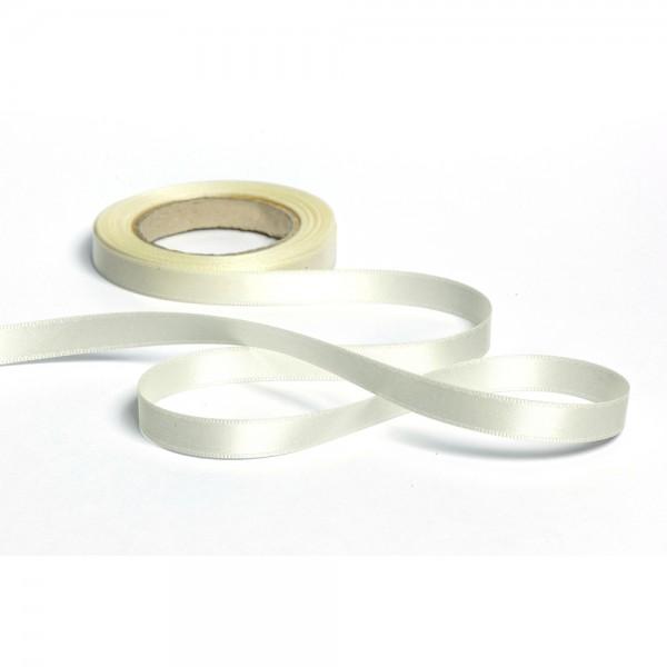 Geschenkband mit Druck 15mm breit 100 Meter creme