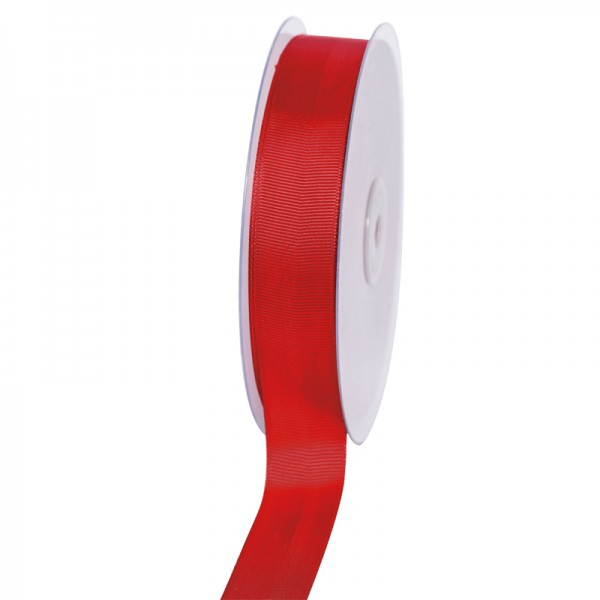 Geschenkband Grosgrain 25 mm/50Meter rot