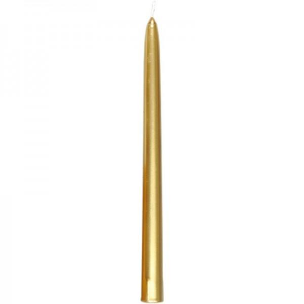 Leuchterkerzen DUNI 260 x 22 mm gold