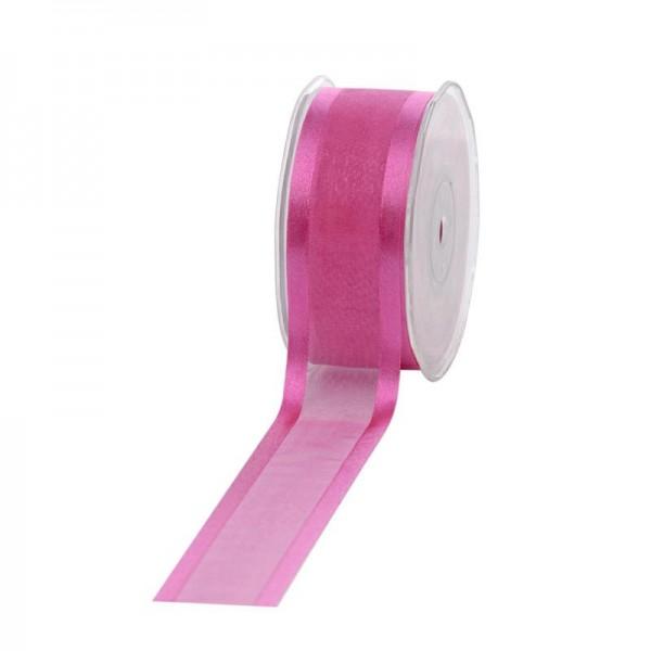 Geschenkband Chiffon Stripes 38mm/25Meter pink