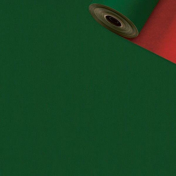 Geschenkpapier Rolle 50cm 250Meter grün/rot