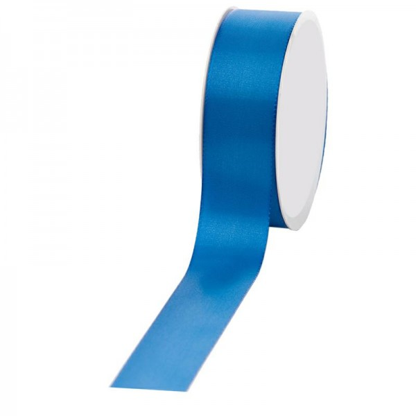 Geschenkband Stoff 40mm / 50Meter blau