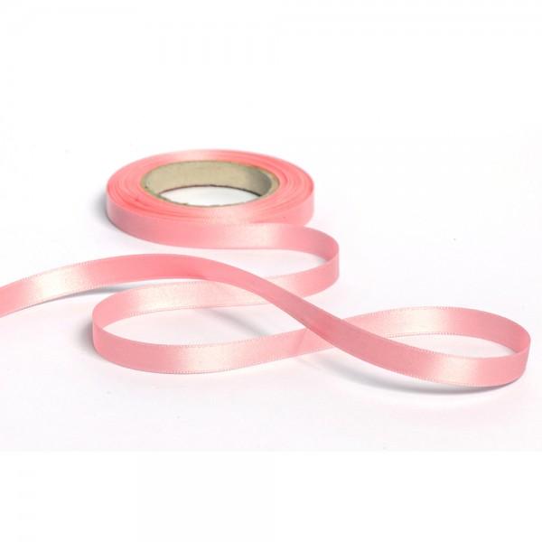 Geschenkband mit Druck 15mm breit 100 Meter rosa