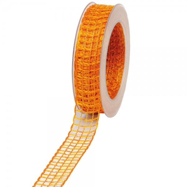 Geschenkband Gitter 25mm/20Meter orange